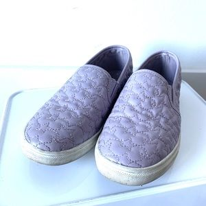 Target lavender slip on tennis shoes girls size 2